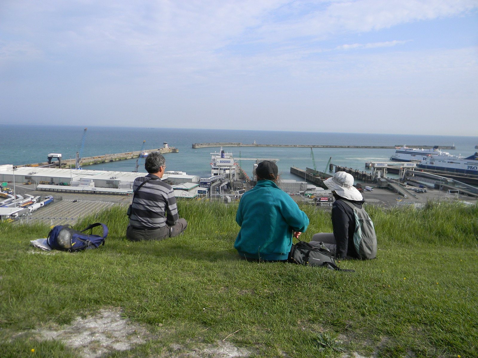 Watching the ferries Deal to Dover