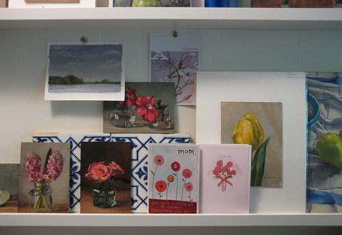 studio shelves in May 2012