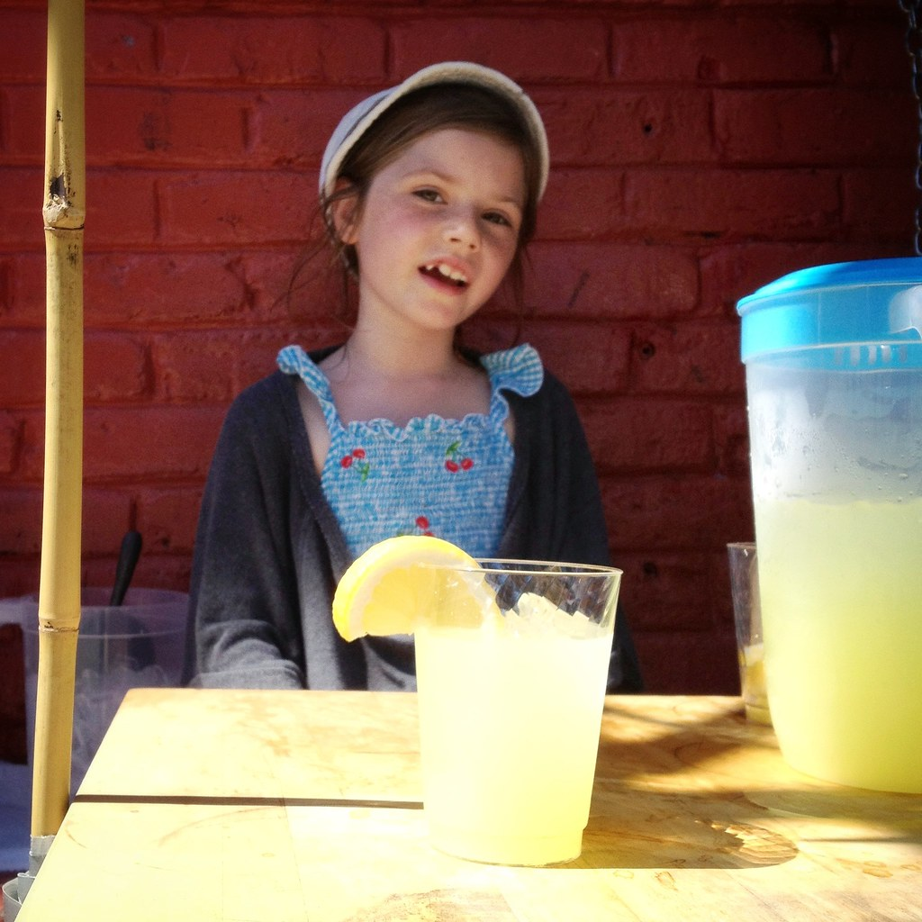 Lemonade for $1. Advice for $.25. I went with the lemonade.