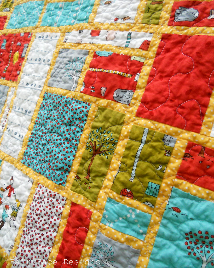 Little Apples Stained quilt closeup2