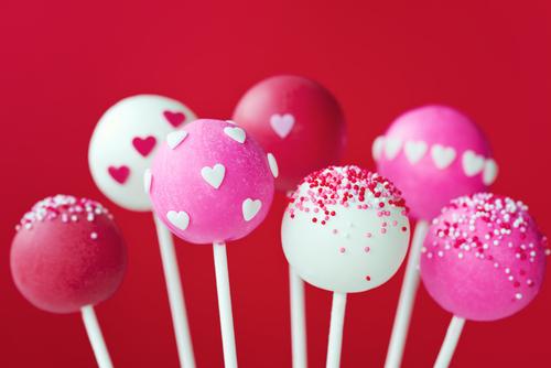 valentine cake pop