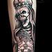 Death Marie/queen custom tattoo by Miguel Angel tattoo