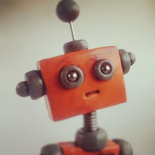 Sneak peek: why does this robot looked so worried? by HerArtSheLoves