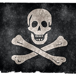 Jolly Roger Pirate Grunge Flag