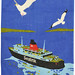 british rail sealink tea towel