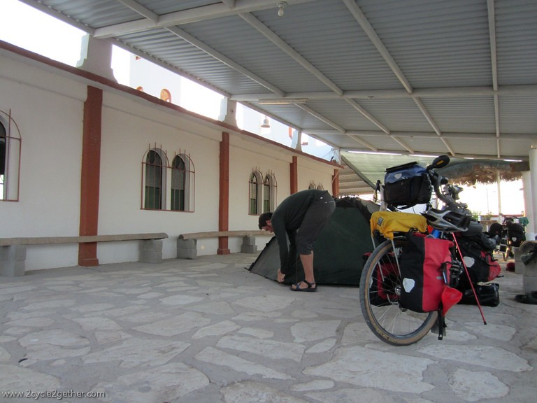 Camping at the Church in Las Pocitas