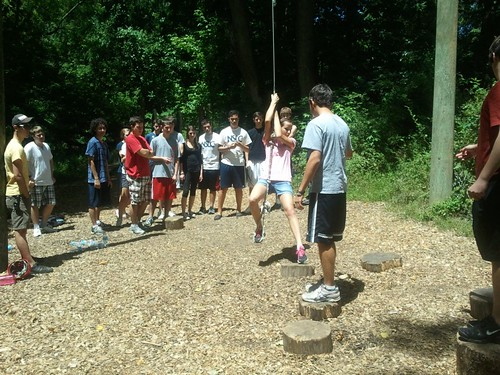 NSLC NSEC Students Teambuilding on the Ropes Course