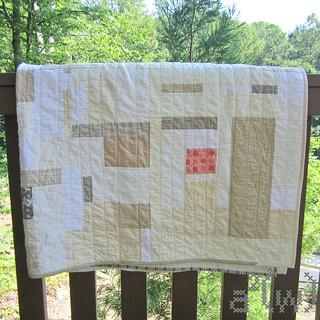 Neutral quilt railing