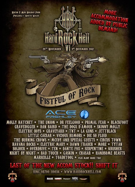 Hard Rock Hell 6 Sebastian Bach Ace Frehley metal gigs gig listings