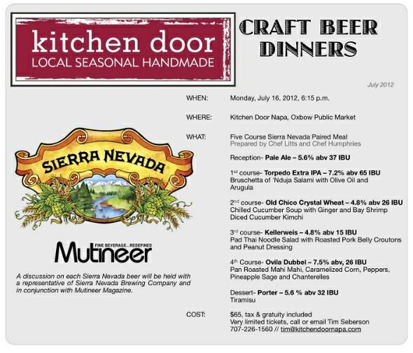 Kitchen Door / Sierra Nevada Craft Beer Dinner