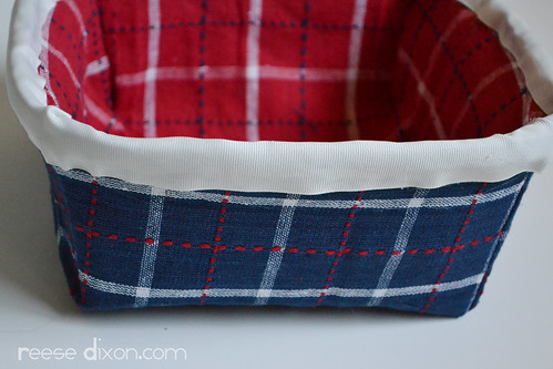4th of July Bread Basket Tutorial Step 6