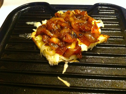 Caramelized Onions Added on Top of Cheese