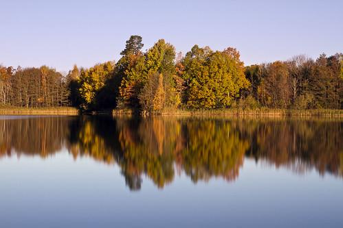 autumn trees fall reflections long exposure sweden sverige stångån östergötland tiver canon50mmf14usm stgi bjärkasäby nd110 canoneos7d