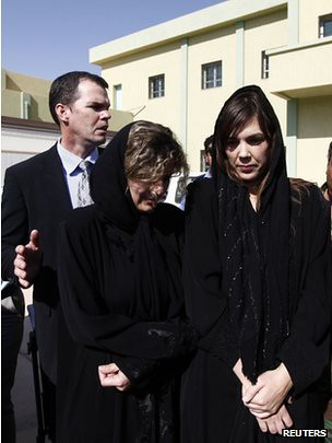 International Criminal Court (ICC) Lawyer Melinda Taylor (R) and translator Helene Assaf (L) were released after negotiations with the Libyan rebels. They had been held for more than a month after meeting with Seif al-Islam in Zintan. by Pan-African News Wire File Photos