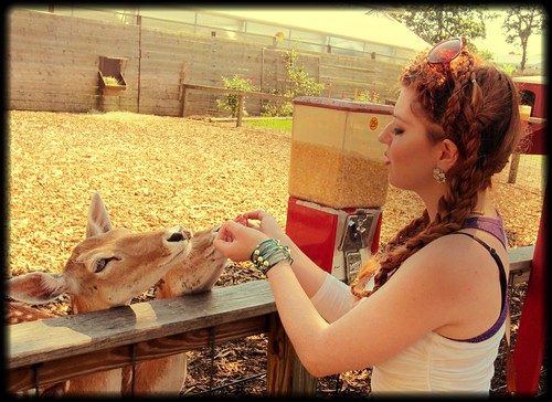 With my deer friends: photo 2