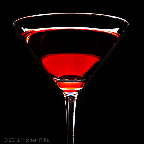 Betsy Ross Cocktail, Black Background