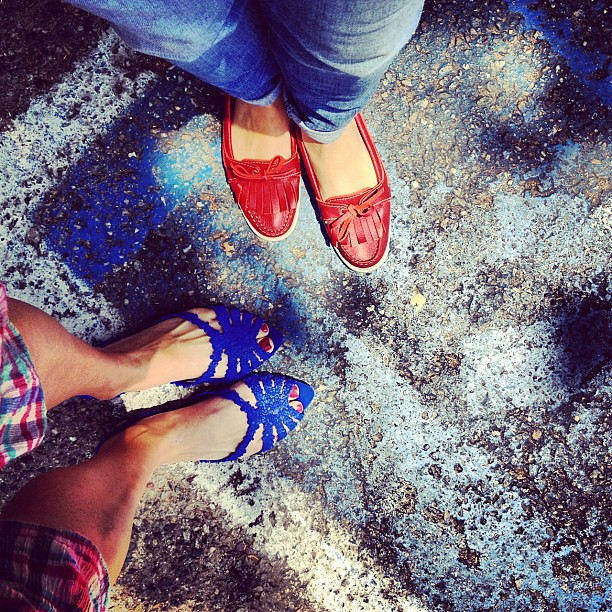 Red, white & blue with @uniqueLA.