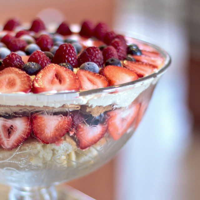 Summer Berry Trifle with White Chocolate Cream | Flickr - Photo ...