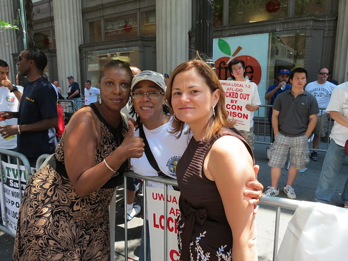 Councilmembers James and Mark-Viverito with Ms. Phillips
