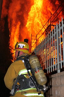 Canoga Park Apartment Blaze. © Photo by Mike Meadows. Click to view more...