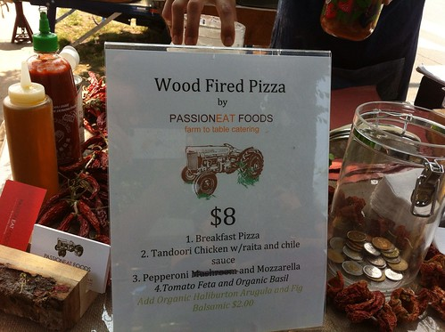 Wood-fired pizza menu