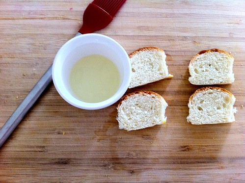 Olive Oil for Brushing over Baguette Slices