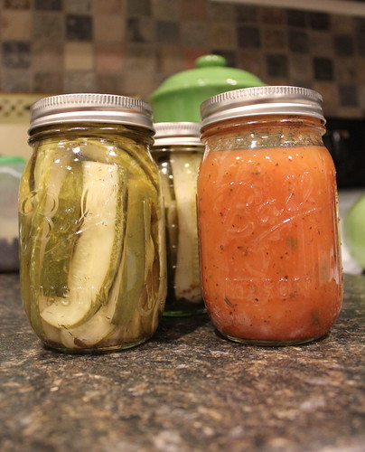20120710. Pickles and tomato sauce.