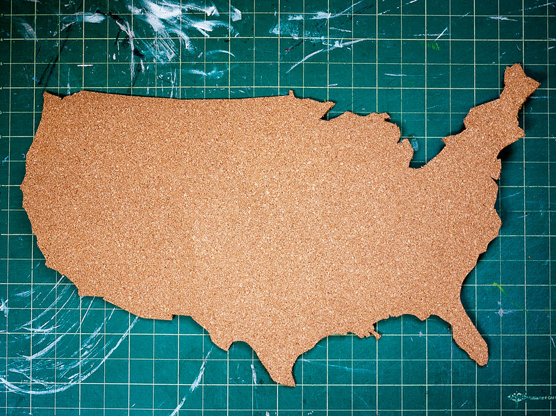 Travel Map Pin Board DIY 4