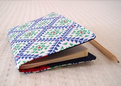 Moleskine cahier cover - Laura Ashley fabric