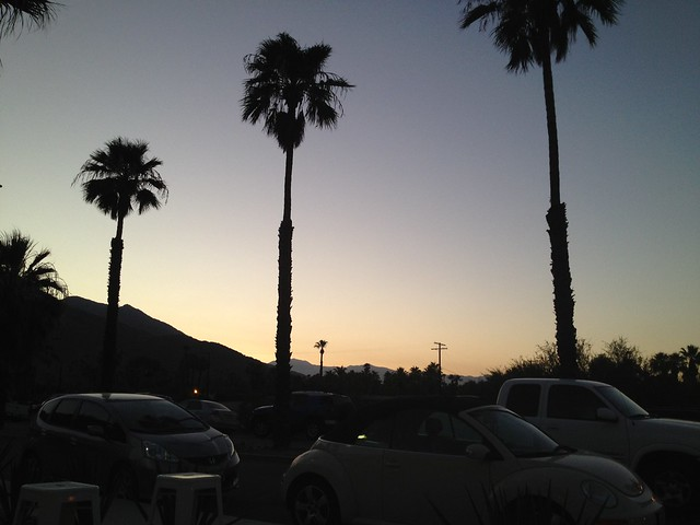 Evening falls on Palm Springs