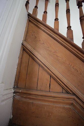 Original 1800 S Wood Staircase Detailing