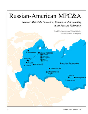 Russian-American MPC&A, Nuclear Materials Protection, Contro