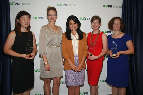 WRC-TV's Angie Goff, center, at WWPR Emerging Leaders Awards