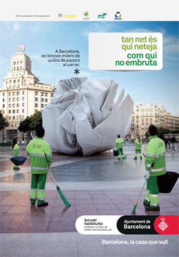 Campaign by CLD and Barcelona City Council on the importance of recycling