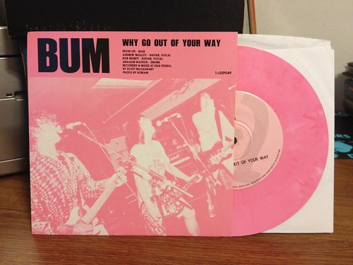 "Bum / FiFi and the Mach III - Split 7"" - Pink Vinyl by Tim PopKid"