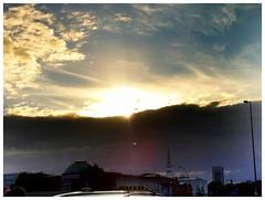 Wolkenfront über Hamburg