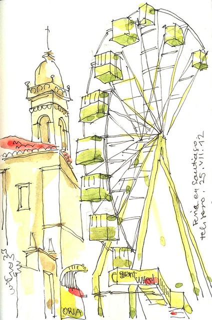 Feria en Santiago.