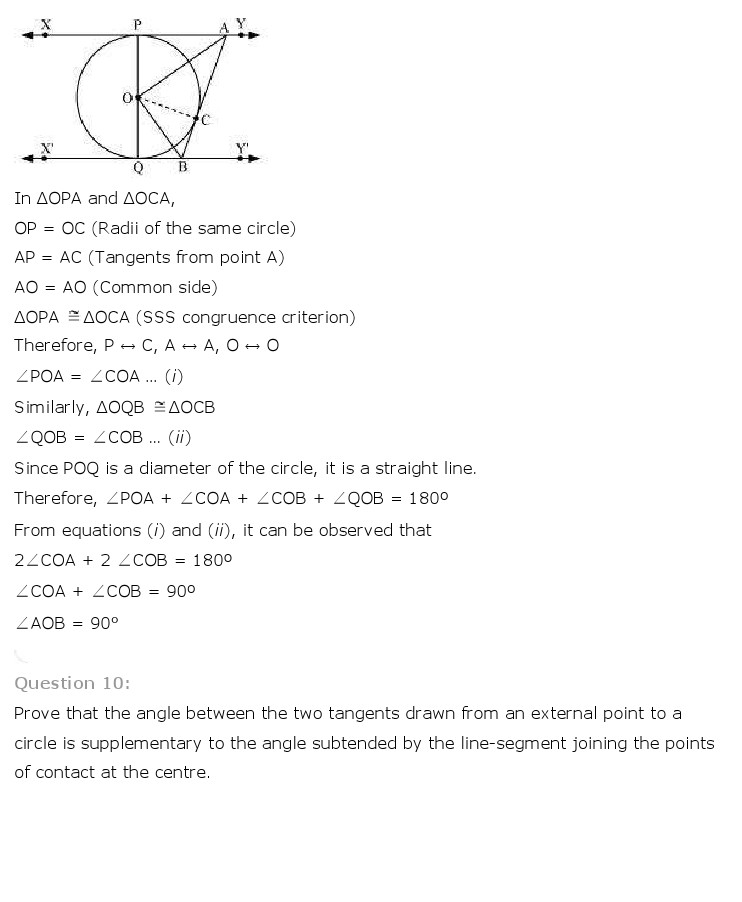 NCERT Solutions For Class 10th Maths Chapter 10 Circles PDF Download 2018-19 frehomedelivery.net
