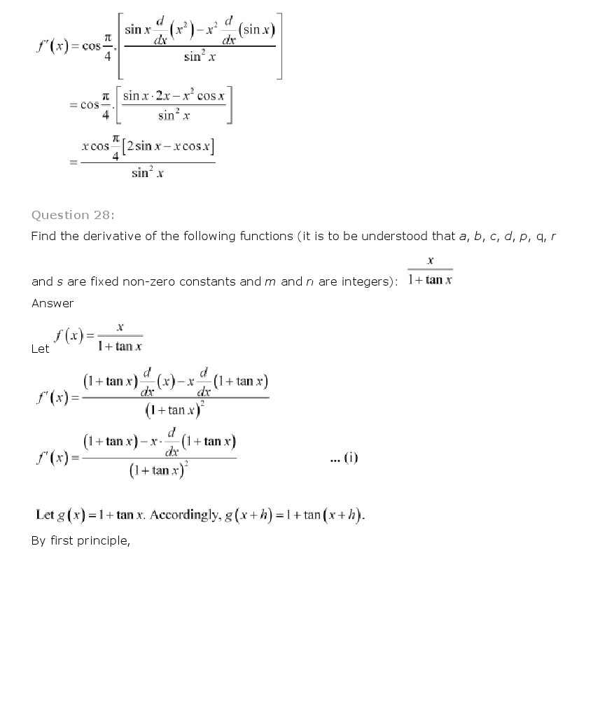 derivatives solution View homework help - derivatives worksheet solution from math 10a at berkeley 9/14/12 worksheet solutions: derivatives gsi: ralph morrison exercise 1 you throw a ball upwards, and its height at.
