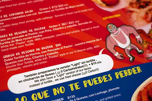 menu @ santos mariscos