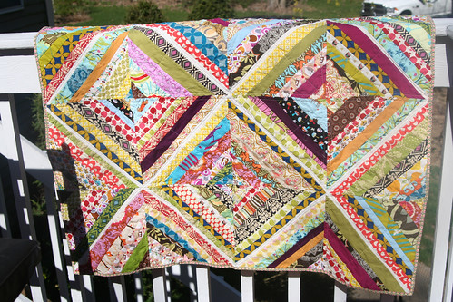 quilt on railing