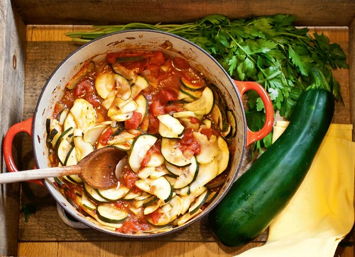 Zucchini Sauteed with Tomatoes and Marjoram (inspired by several ...
