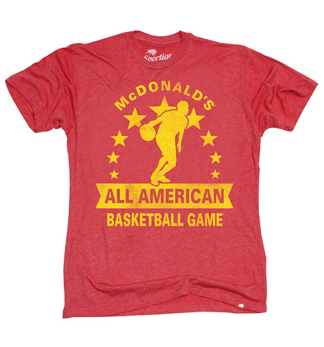 McDonald's All American T-Shirt By Sportiqe Apparel