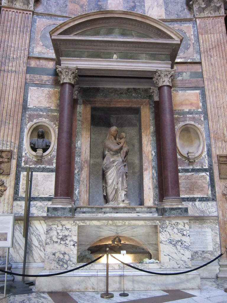 Rome Pantheon Altar Of Our Lady Of The Rock Amp Raphael S