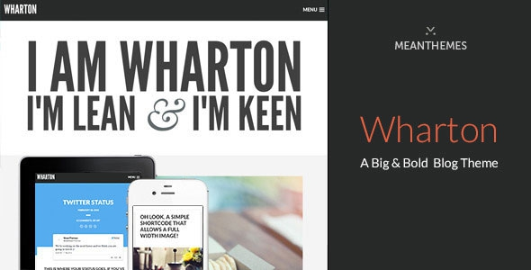 Wharton v1.2.9 – A Big & Bold WordPress Blog Theme