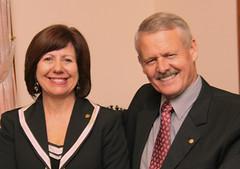 Ian Scott, District 9685 Governor 2014-15 & Jennifer