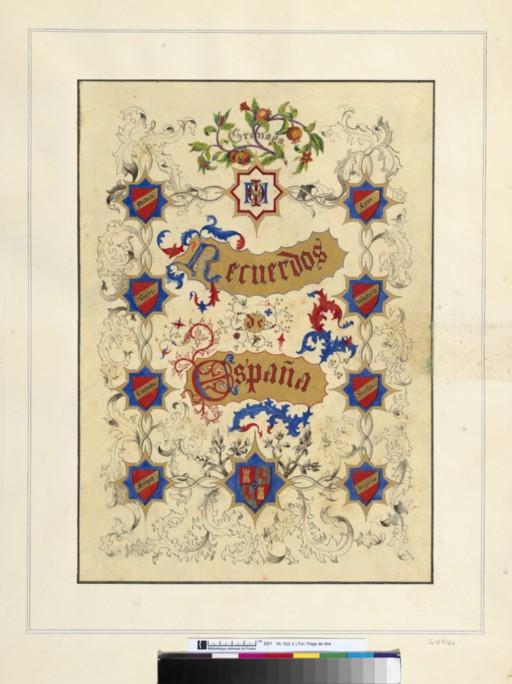 Portada del libro Recuerdos de España de Edward King Tenison. Bibliothèque Nationale de France