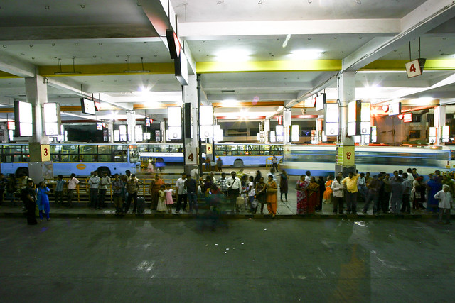 Inside Shivaji Nagar Bus Station