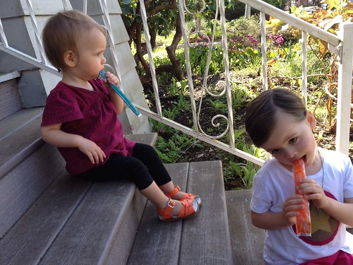 popsicles on the porch