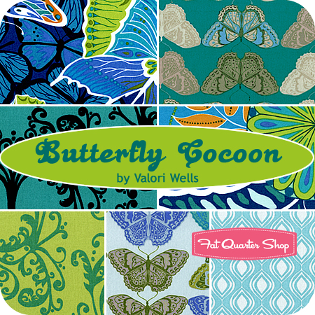 Butterfly Cocoon Fat Quarter Bundle Valori Wells for Free Spirit Fabrics -- Friday's Giveaway!!